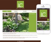 Website design for LC Landscape features multiple image galleries. The main requirement was for the design to be responsive so it could be accessed on location to show potential clients.
