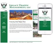 A responsive website design for a startup traffic management company. The design features side navigation, contact form, and a slide show.